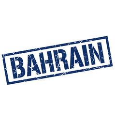 Bahrain blue square stamp vector