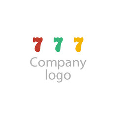 company logo on white background vector image