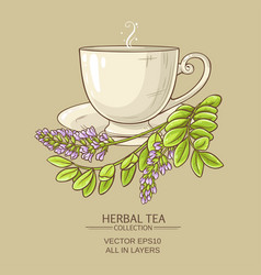 Cup of licorice tea vector
