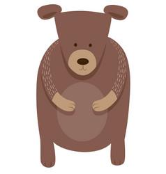 cute bear cartoon animal character vector image