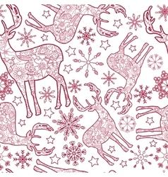 deer seamless pattern vector image