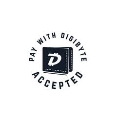 digibyte digital asset accepted concept dgb vector image