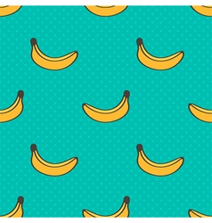 Doodle banana seamless pattern background vector image