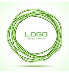 Green hand drawn ware circle vector