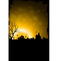 Grunge Background for Halloween Party vector image