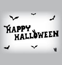 happy halloween bat text vector image vector image