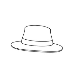 isolated beach hat vector image vector image