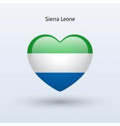 Love sierra leone symbol heart flag icon vector