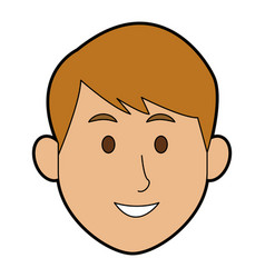 man character face avatar male on white background vector image