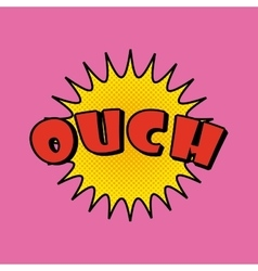 ouch comic pop art style vector image