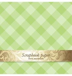 Pattern Scrapbook Paper vector image