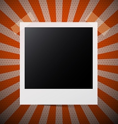 Photo Frame on Retro Red Background vector image vector image