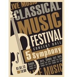 Poster for a concert of classical music vector