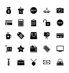 shopping and commerce glyph icons 3 vector image vector image