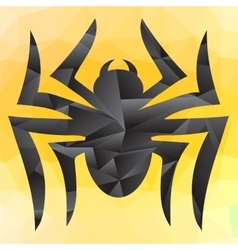 Spider mosaic silhouette vector