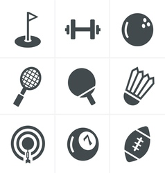 Sport icons Set Design vector image vector image