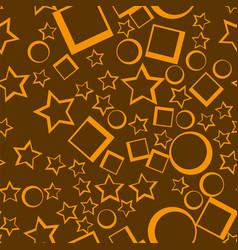 Star seamless pattern yellow stars on dark vector