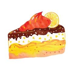 Sweet cake vector