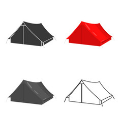 tourist tent icon of for web vector image