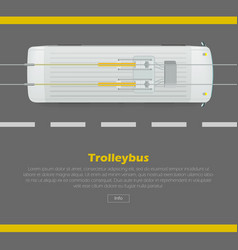 trolleybus on road conceptual flat web vector image