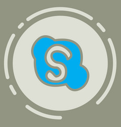 Unusual look skype logo vector