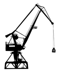 Working crane in sea port for cargo industry vector image vector image