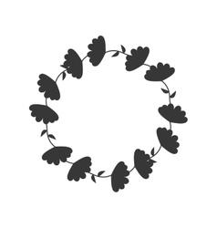 Wreath crown decoration icon graphic vector