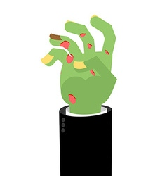 Zombie Hands Limbs green zombi cadaveric spots on vector image