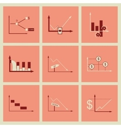 Concept of stylish flat design icons graph vector