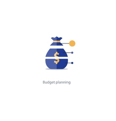 Budget cut structure investment plan financial vector