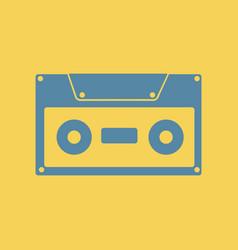 Retro music cassette vector