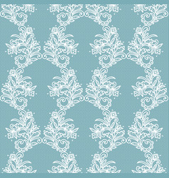 White lace pattern vector