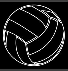 volleyball ball it is icon vector image