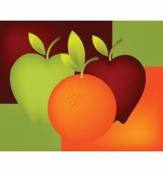orange and apple vector image