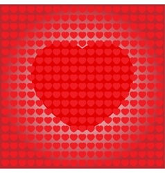 Valentines card with a heart in the middle vector