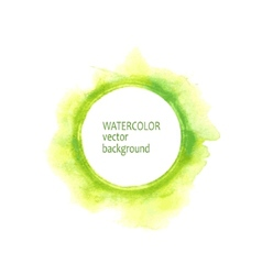 Watercolor circle hand paint on white background vector image