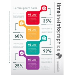 Web template for vertical diagram or presentation vector