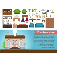 Furniture store vector image