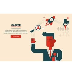 Career growth concept vector