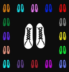Shoes icon sign lots of colorful symbols for your vector