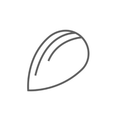 Almond line icon vector
