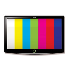 LCD TV test screen vector image
