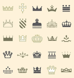 Crowns and tiaras and shields vector