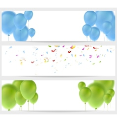 Abstract greeting banners vector