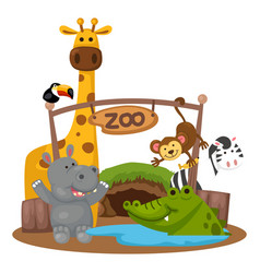 Animal zoo vector