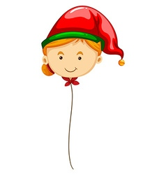 Balloon shape of woman in red hat vector
