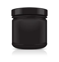 black blank plastic jar sport nutrition whey vector image vector image