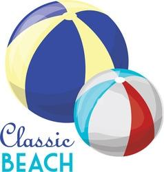 Classic beach vector