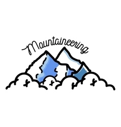 Color vintage mountaineering emblem vector image vector image