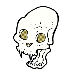 Comic cartoon spooky vampire skull vector